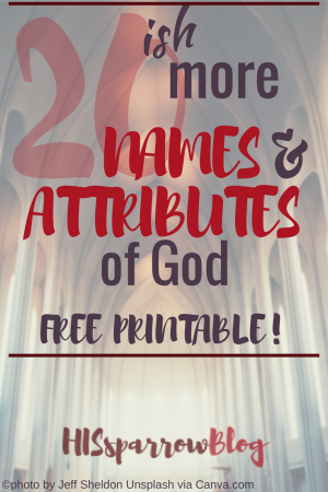 photo relating to Free Printable Names of God named 20ish Extra Names Characteristics of God (no cost printable