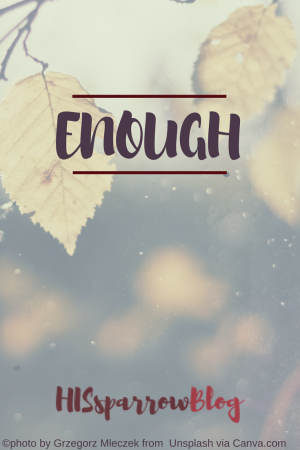 Enough | HISsparrowBlog | christian living, children, contentment, marriage, God