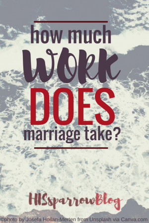 How Much Work Does Marriage Take? | HISsparrowBlog | christian living, love