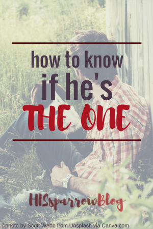 How to Know if He's the One | HISsparrowBlog | christian living, mate, Valentine's Day