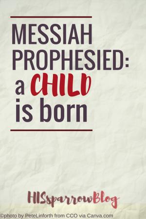 Messiah Prophesied:A Child is Born   HISsparrowBlog   Christian living, faith, Christmas