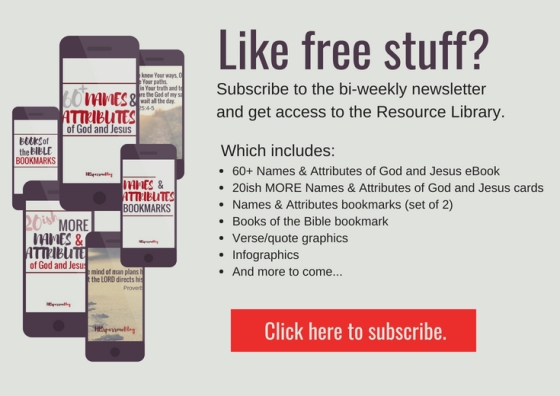 Like free stuff? Subscribe to the bi-weekly newsletter and get access to the Resource Library.