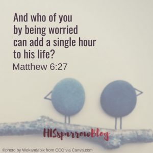 And who of you by being worried can add a single hour to his life? Matthew 6:27