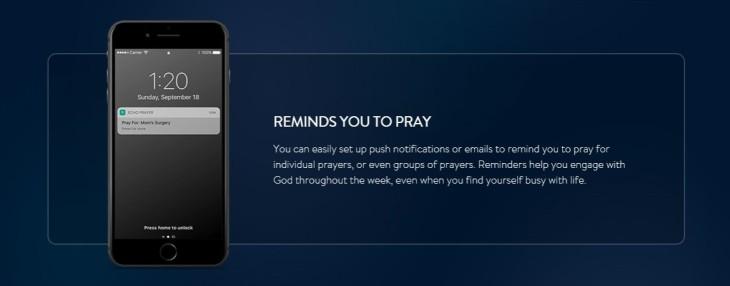 Print screen of Echo prayer app