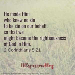 He made Him who knew no sin to be sin on our behalf, so that we might become the righteousness of God in Him. 2 Corinthians 5:21