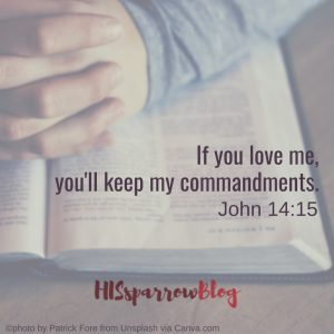 If you love me, you'll keep my commandments. John 14:15