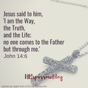 Jesus said to him, 'I am the Way, the Truth, and the Life; no one comes to the Father but through me.' John 14:6