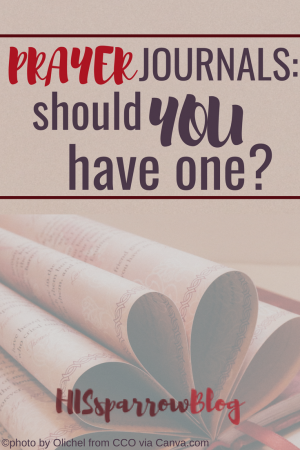 Prayer Journals: Should You Have One? | HISsparrowBlog | #christian living